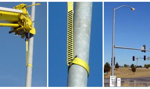 BoaGrip™ rigging sling for tapered utility poles